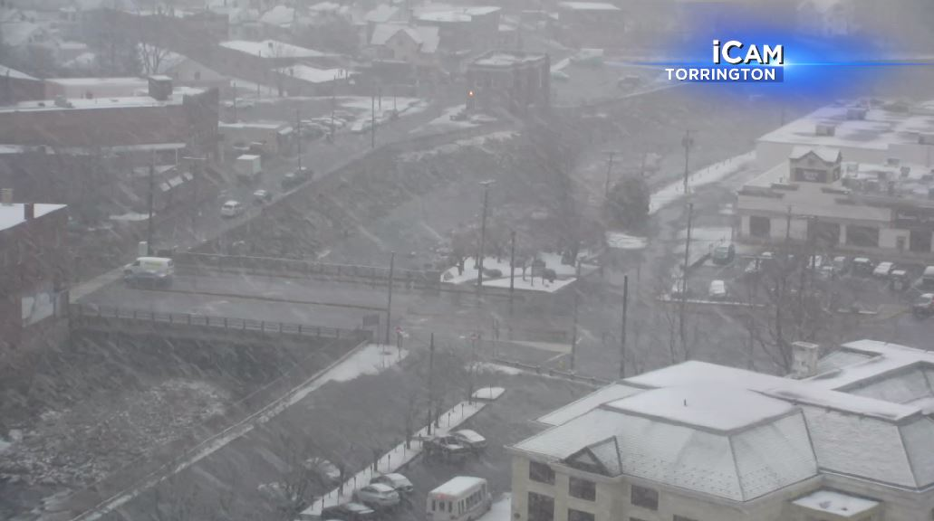 Wintry mix, rain fall across the state