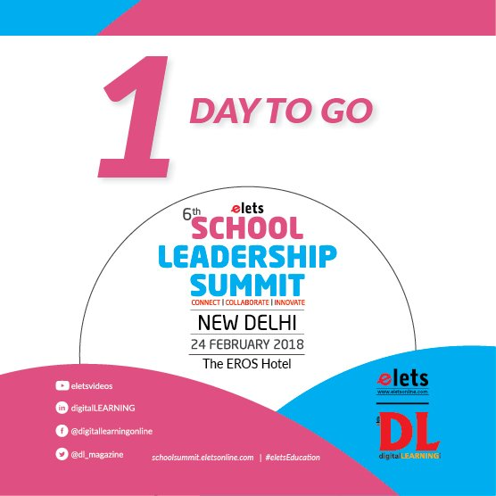 test Twitter Media - 1 Day to Go! Elets 6th School Leadership Summit is all set to kick-off at Eros Hotel New Delhi Tomorrow   Visit: https://t.co/AXzzpd2XxW  #eletsEducation #SLS2018 #Education #Conference #SchoolFranchise #Schools #Preschools #Innovation https://t.co/BobutBTK2D
