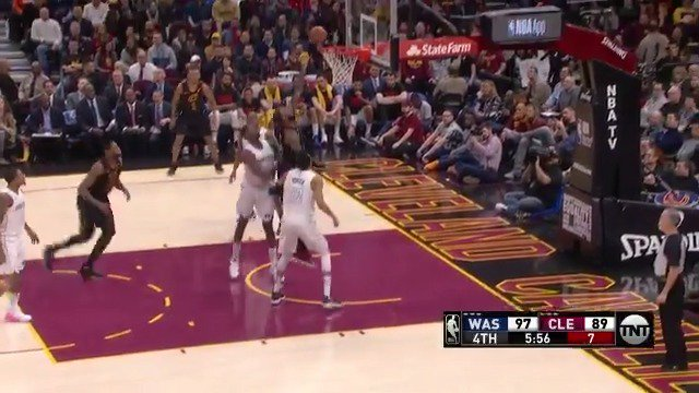 The bucket to give LeBron James 11,000 field goals made! #AllForOne https://t.co/pZMIGggpQn