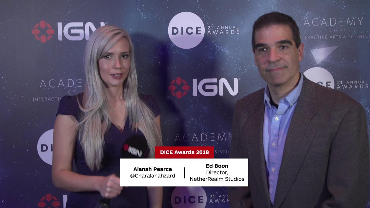 ICYMI: #Injustice2's @noobde stopped by at the #DICEAwards! https://t.co/NI2gCdy8Ul