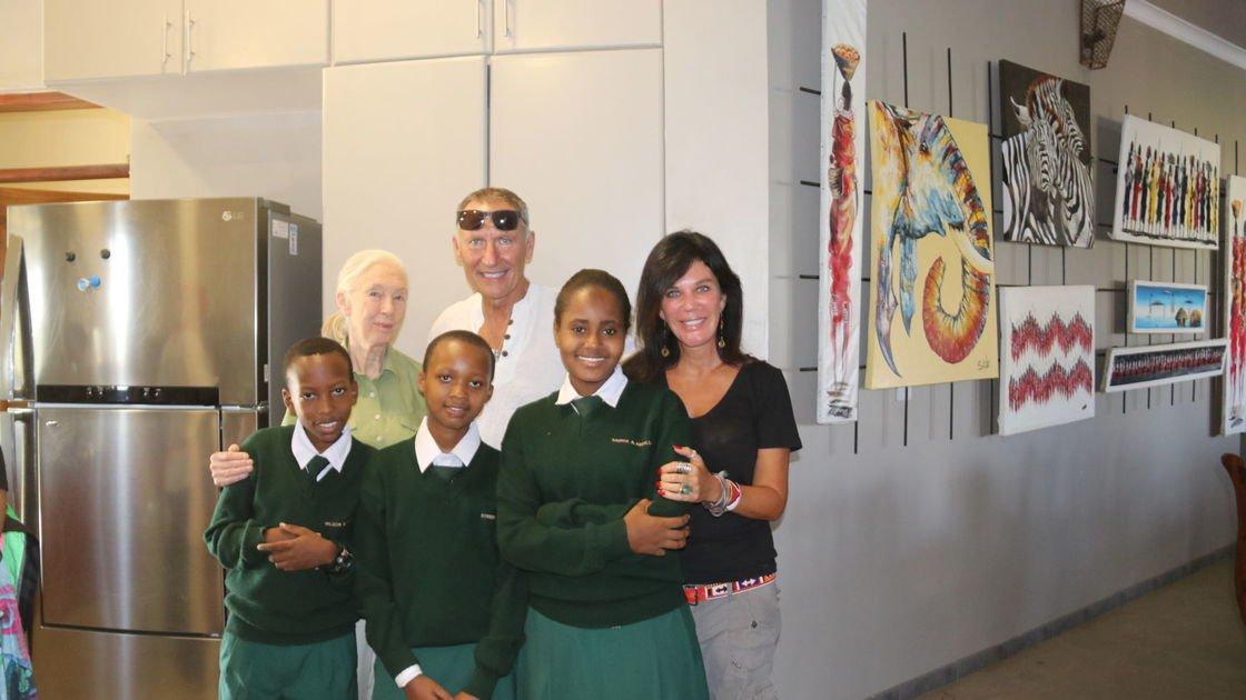 Jane Goodall visits STEMM orphanage in Tanzania, meets 'Miracle Kids'