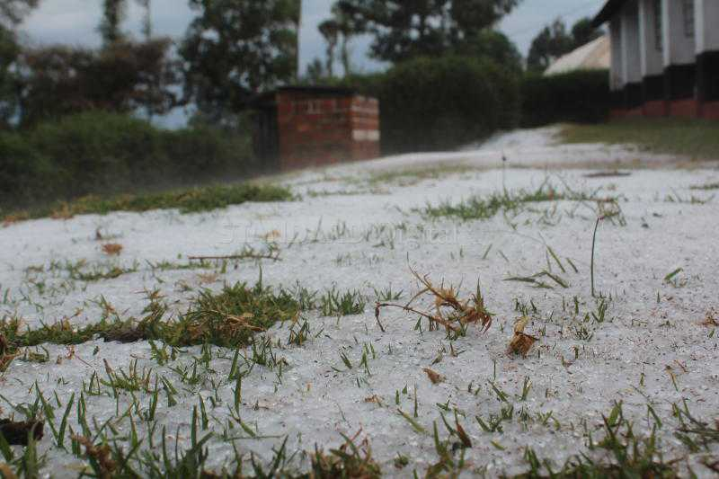 Hailstones defy weatherman, wreak havoc in Nyamira