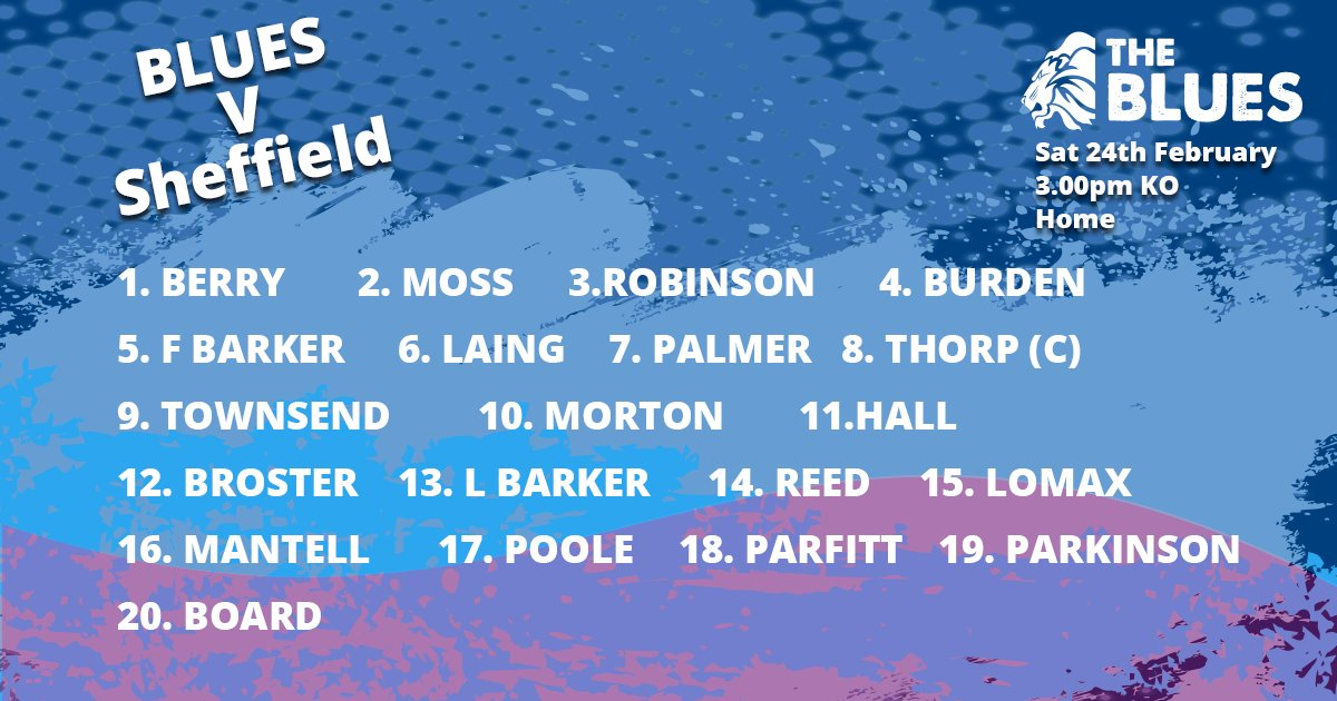 test Twitter Media - Don't miss this weekends game Blues v Sheffield! Here's tomorrows team. Get ready Blues! 🏈 https://t.co/nPEU6otjdw
