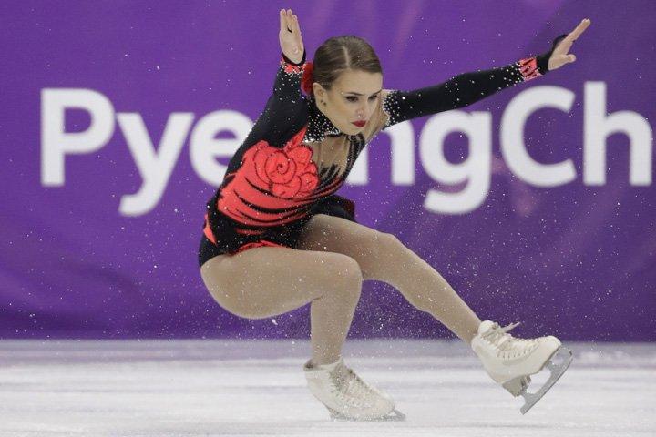 @BroadcastImagem: A brasileira Isadora Williams na final do programa livre da patinação artística individual. Bernat Armangue/AP