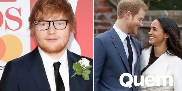Casamento. Foto do site da Quem Acontece que mostra Ed Sheeran comenta rumores de suposto show no casamento de Meghan Markle e príncipe Harry.