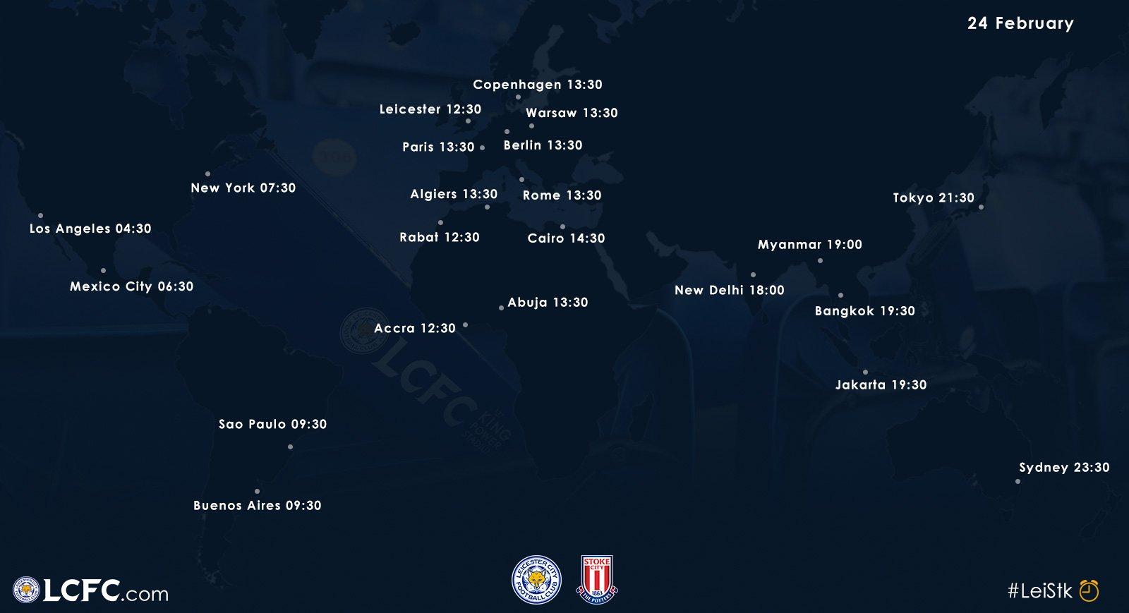 Kick-off times around the �� for #LeiStk...  Global broadcast schedules ➡️ https://t.co/lSCShyS6qz https://t.co/ffPNkutaKi