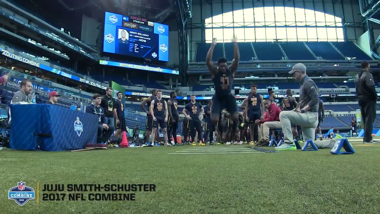 Before hide-and-seek and making sure his bike was locked up, @TeamJuJu was WO47 from @USC_Athletics.  #NFLCombine https://t.co/YTaTNgd3qQ