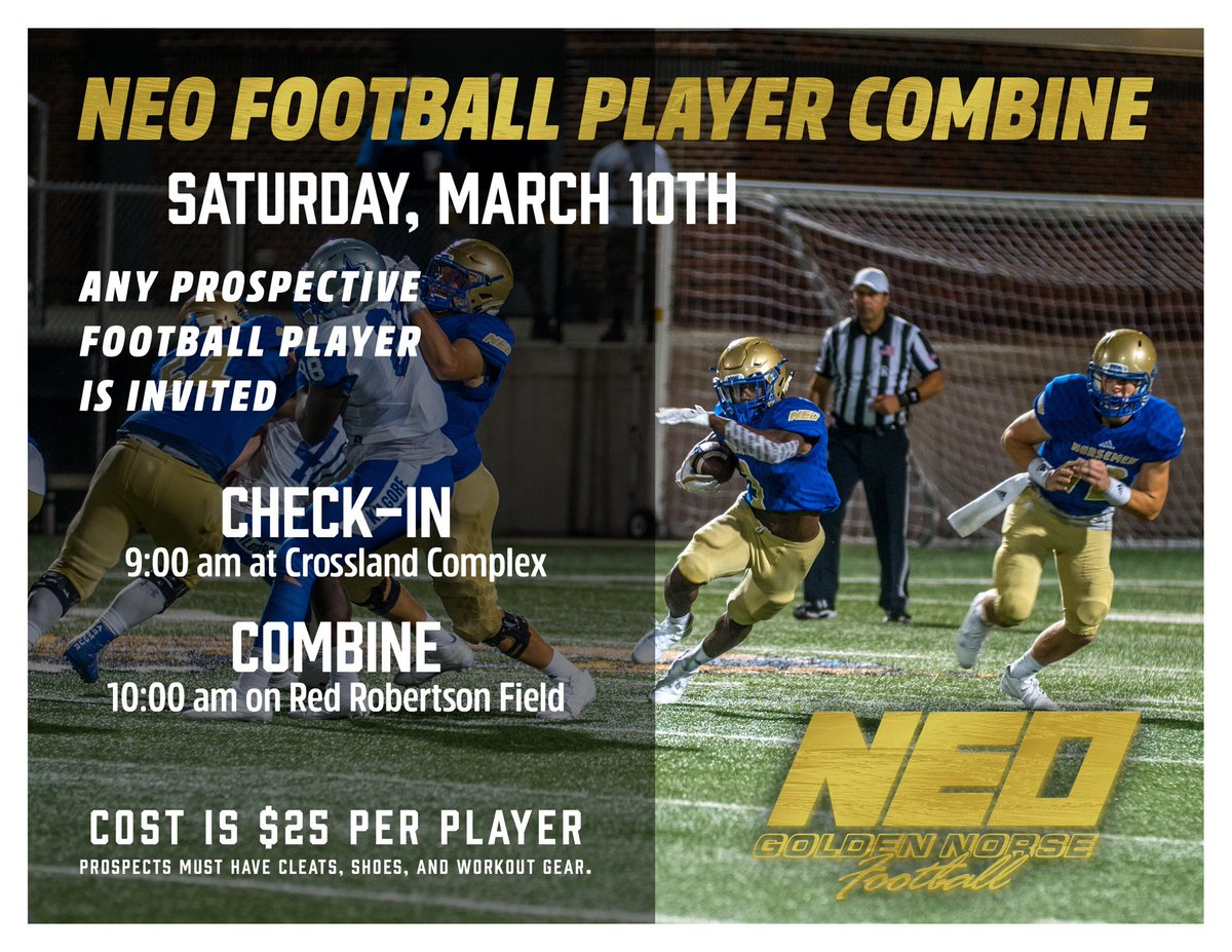 RT @Coach_Oz1646: Due to the threat of bad weather moving our combine to March 10th!!! #staygolden #pleaseretweet https://t.co/hDMqDlhCZt