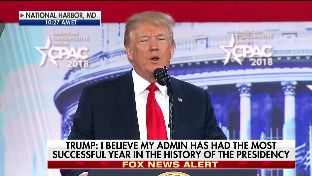 .@POTUS: 'We have a very, very crooked media.' #CPAC2018 https://t.co/er7RsZRqCR https://t.co/5uZqL2u9e8