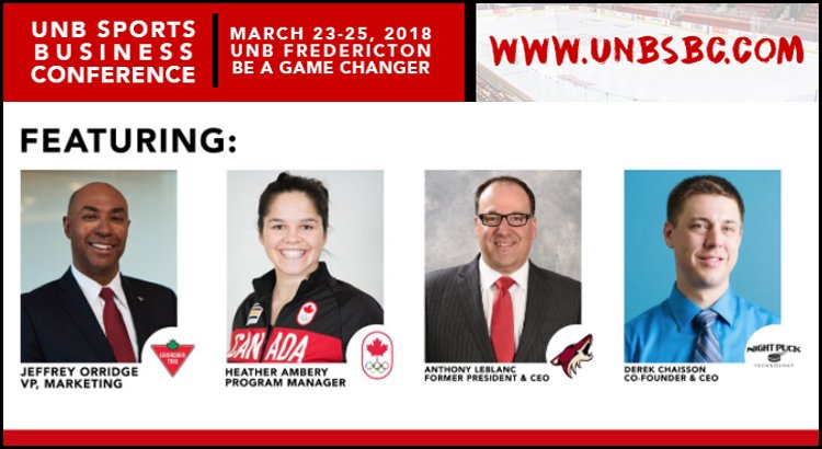 test Twitter Media - The first ever #sportsbiz conference in Atlantic Canada is happening March 23-25 at @UNBFredericton. @UNBSBC Co-Chairs @kristiandamore and @crsampson5 join the podcast to give us the details! LISTEN 🎧 ➡️https://t.co/EhF4yiVHkK https://t.co/WCJVqdfh66