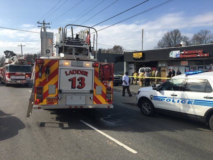 Vehicle crashes into building north of uptown - | WBTV Charlotte