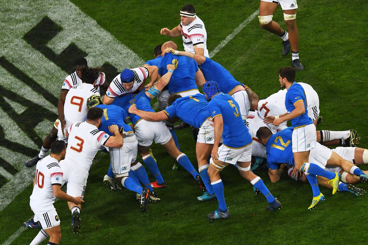 test Twitter Media - France lead Italy 11-7 at half-time at the Stade Vélodrome! Can the French hold off the Azzurri for the second-half? Find out with our live blog: https://t.co/ldGJQUJZZJ https://t.co/6SPX7K5SWY