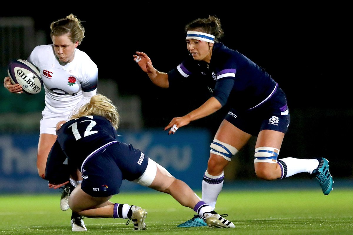 test Twitter Media - FT: Scotland 8-43 England Danielle Waterman deservedly wins player of the match for her part in an impressive England performance. 👉 https://t.co/15VAVTJNI9 #SixNations #bbcsixnations #SCOvENG https://t.co/NWInMnGKIw