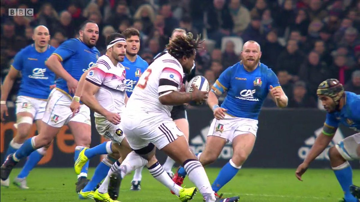 test Twitter Media - Getting Mathieu Bastareaud down is no easy feat... Watch on @BBCOne 👉 https://t.co/15VAVTscjz #SixNations #bbcsixnations #FRAvITA https://t.co/GORtIsVuvr
