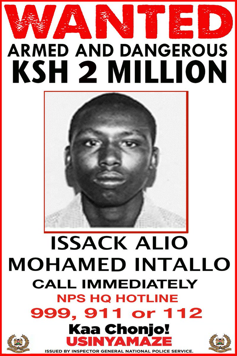 Police offer reward for information on six suspected Al Shabaab militia