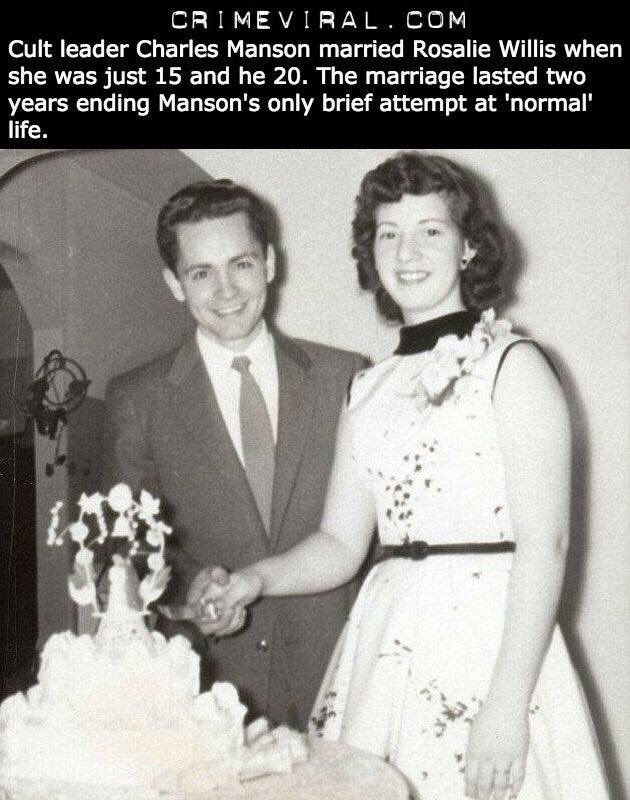 Charles Manson on his wedding day... https://t.co/AJ3tAEVOTA