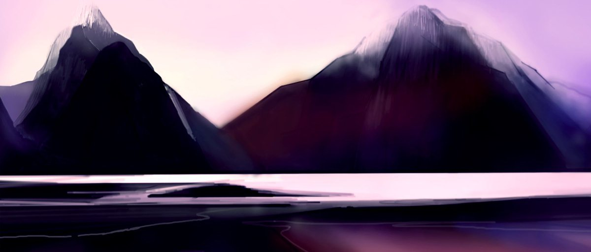 Here's a painting of the Milford Sound (in New Zealand) by 'Gaudinknot' on @hitRECord: https://t.co/Oyb0IsCeve https://t.co/wMKZziUK8x
