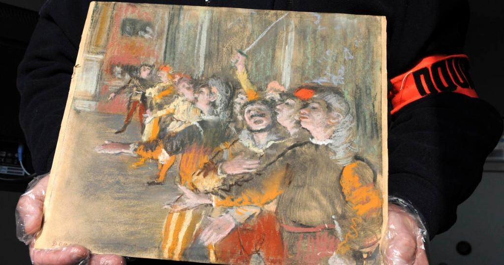 French customs officials find stolen Edgar Degas painting in luggage on bus
