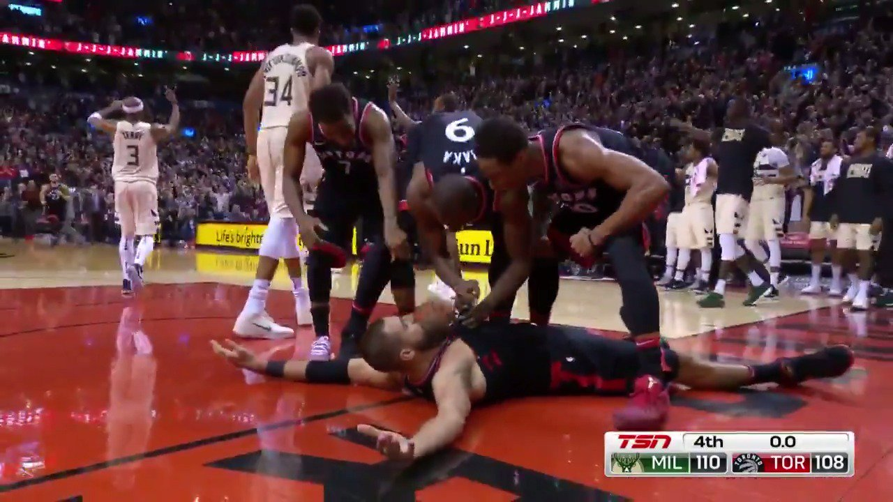 The jam to keep the @Raptors alive and force overtime!  #WeTheNorth https://t.co/lt9lplCNCu