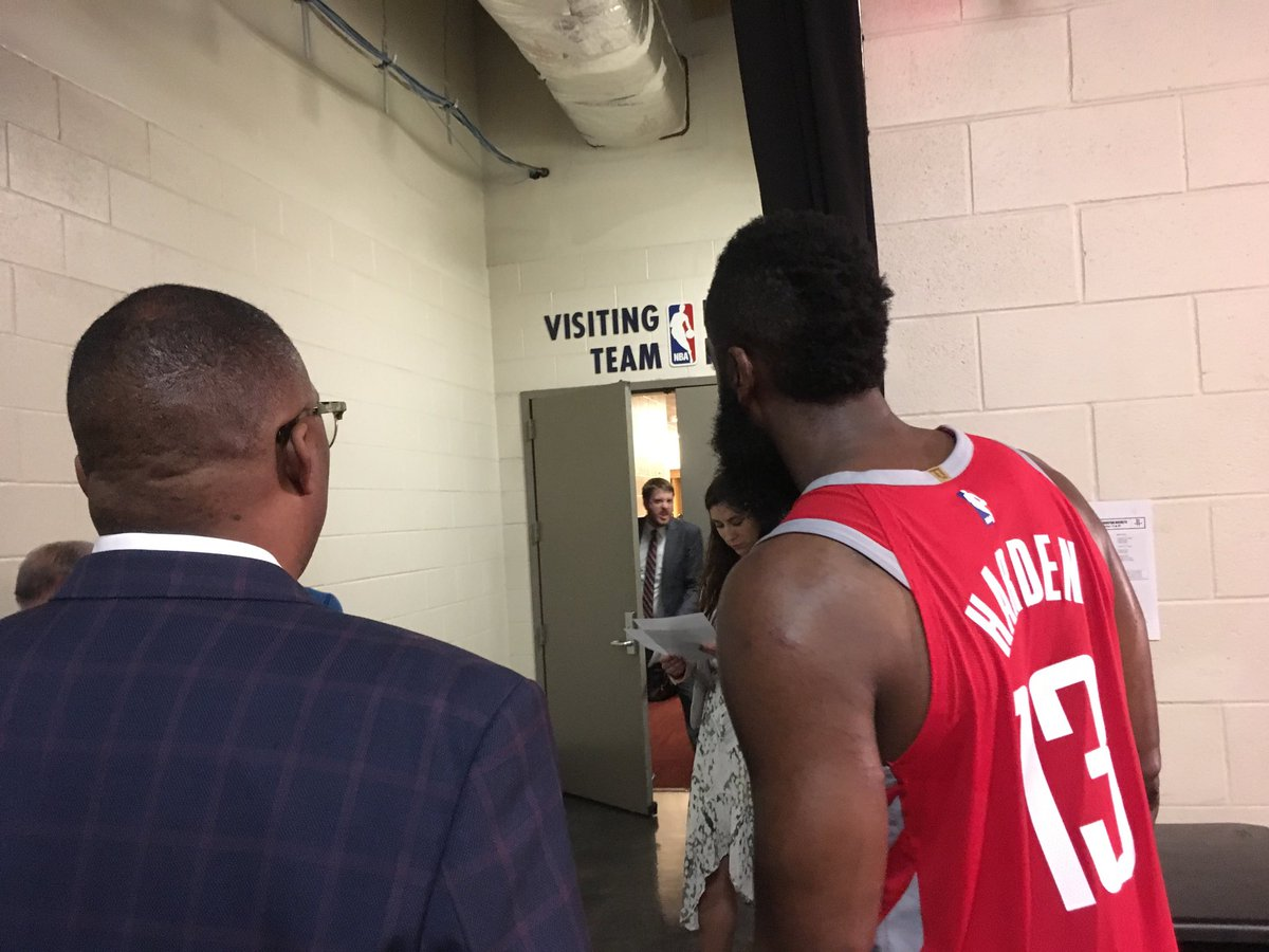 RT @JerryZgoda: James Harden down st Wolves locker room quickly after game, asking to talk to Butler https://t.co/66A40i3eBs