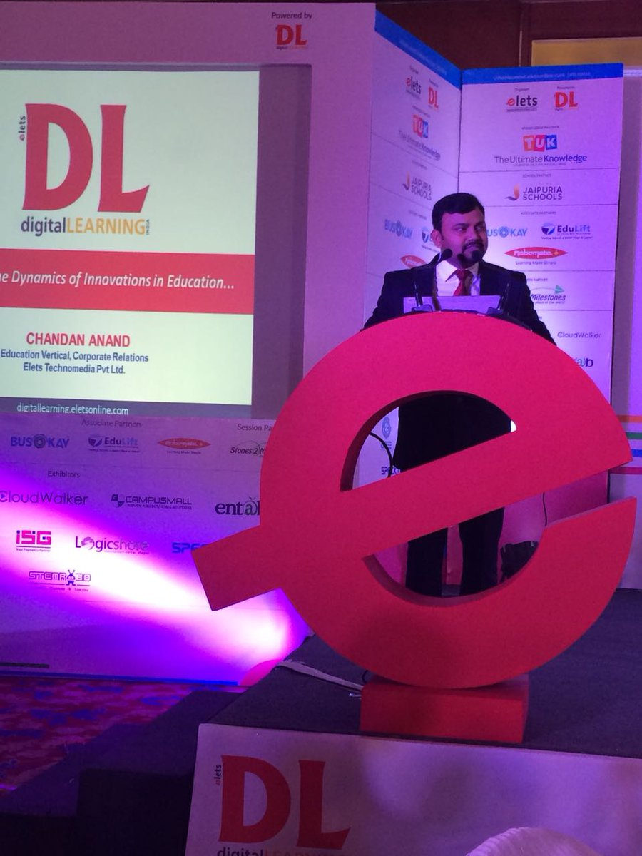 test Twitter Media - .@chandananand26, Head-Corporate Relationship, @dl_magazine addressing the inaugural session at School Leadership Summit, New Delhi.#SLS2018 #eletsEducation https://t.co/8sk12T2dim
