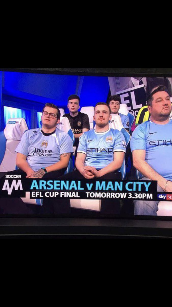 RT @BangorRed1981: Man City can't even fill their seat allocation on Soccer AM 😩😩 https://t.co/7uEBGpmNEo