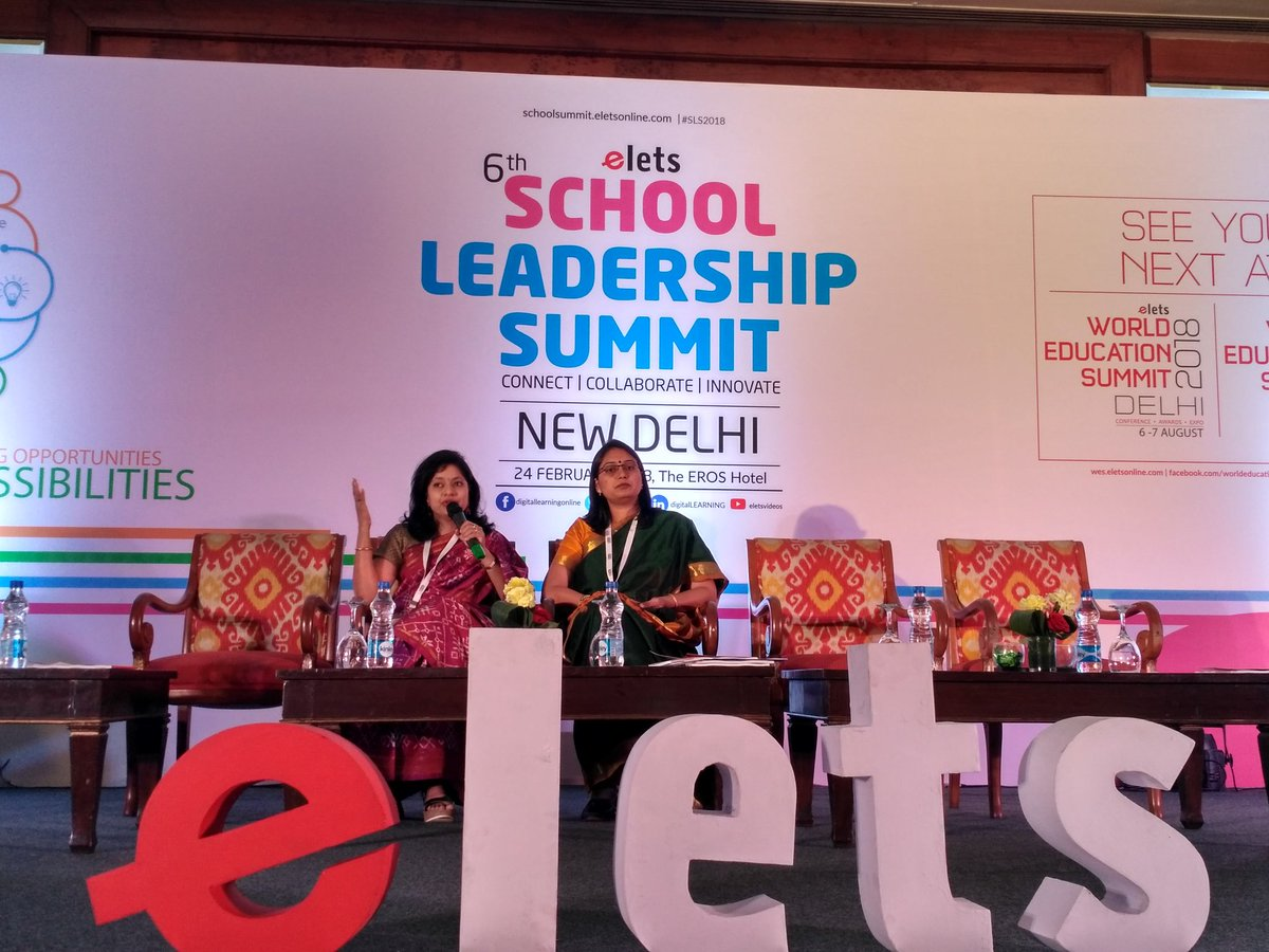 test Twitter Media - Gitanjali Group of Schools @GitanjaliSchool Associate Director Madhvi Chandra @MadhviChandra (left) and Rangoli Group of Institutes @RIS_Gandhinagar Director Anamika Anjaria sharing opinion on 'Collaborative approaches for redesigning of schools'. #SLS2018 #EletsEducation https://t.co/jcBbdzYUHp
