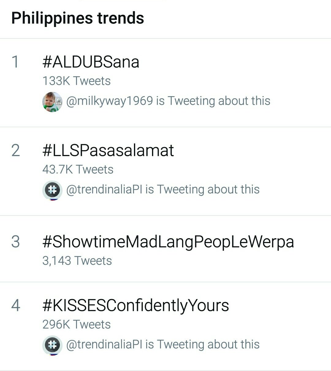 You know it EB and GMA. ALDUB can really dominate ratings and trends. #ALDUBSana https://t.co/oYZ0Jsjgeb