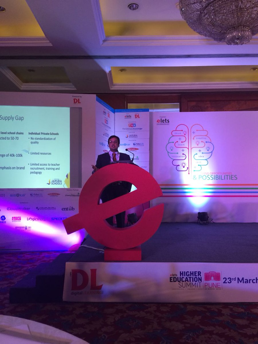 test Twitter Media - Shreevats Jaipuria @sj686, Vice-Chairman @Jaipuria_Inst addressing the School Leadership Summit In New Delhi. #SLS2018 #EletsEducation https://t.co/LKrGMcEtFj