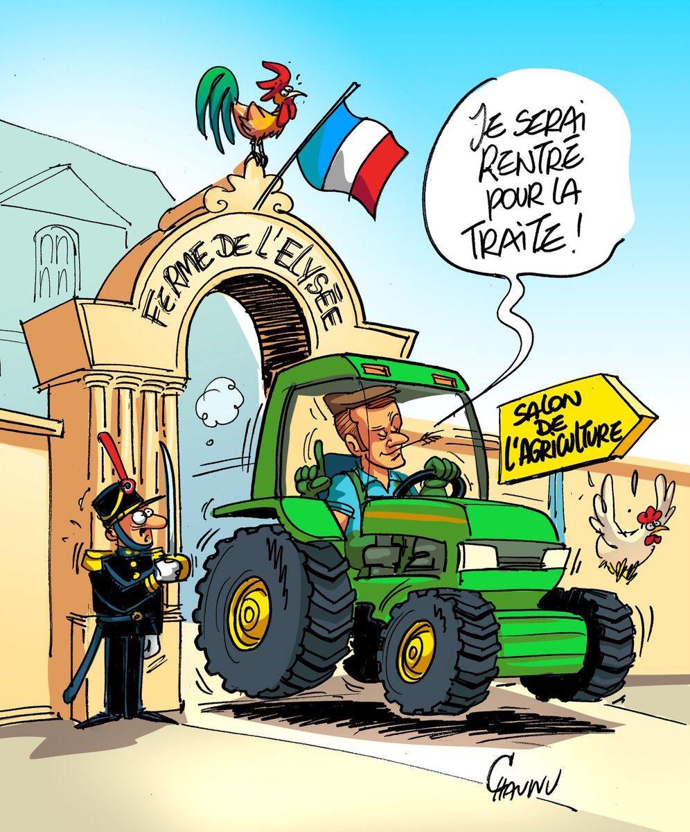 Vous venez la faire chez moi @EmmanuelMacron ?? �� #SIA2018 #CeuxQuiFontLeLait https://t.co/vX7tvQGQ8Z