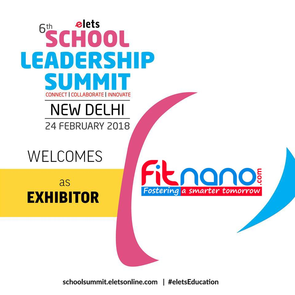 test Twitter Media - . @eletsonline welcomes @Fitnano_  as an Exhibitor at 6th School Leadership Summit, New Delhi. #SLS2018 https://t.co/lK7c3sBWMh