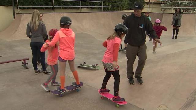 Free program teaches girls how to skateboard