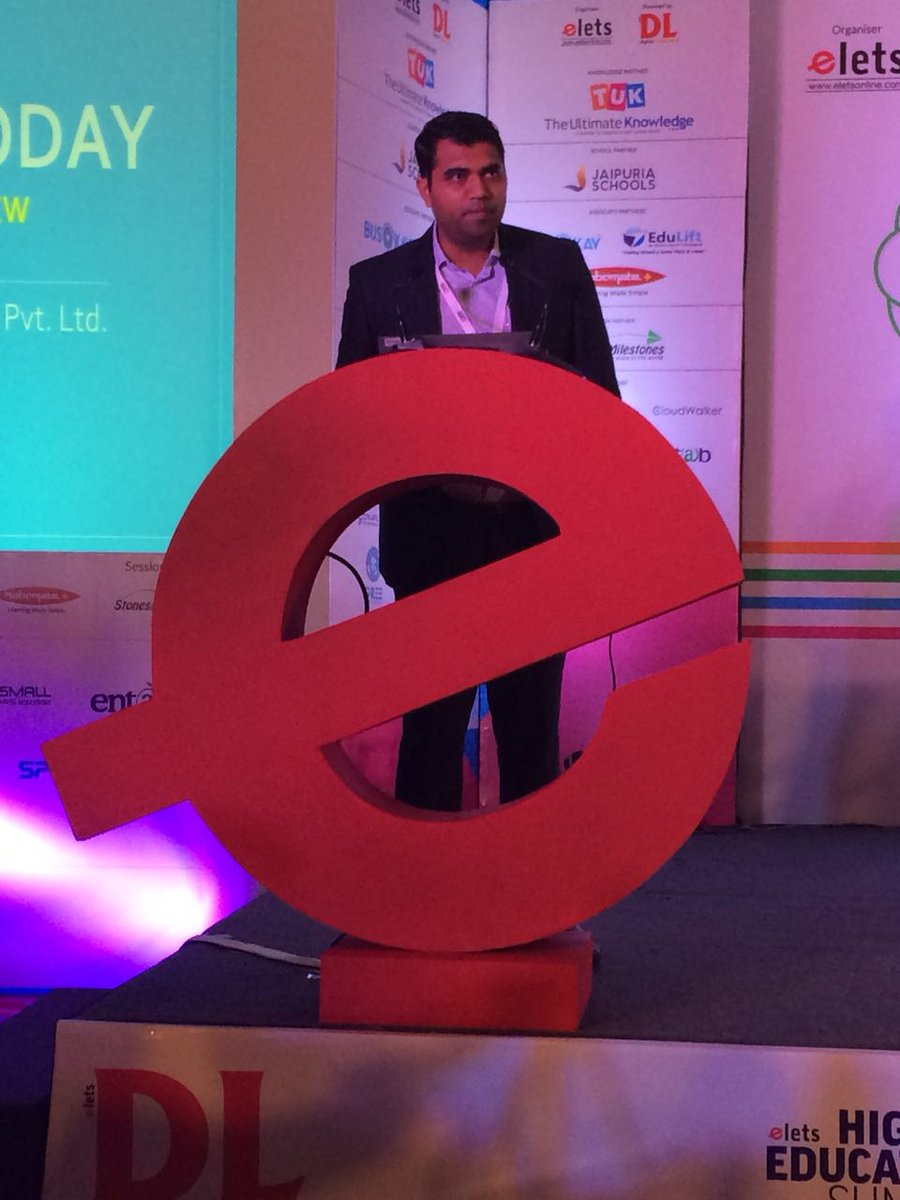 test Twitter Media - Sandeep Solanki, CEO, @SolutionEduLift, addressing a technology presentation at 6th School Leadership Summit, New Delhi. #SLS2018 #eletsEducation https://t.co/Kl40mI8TGx