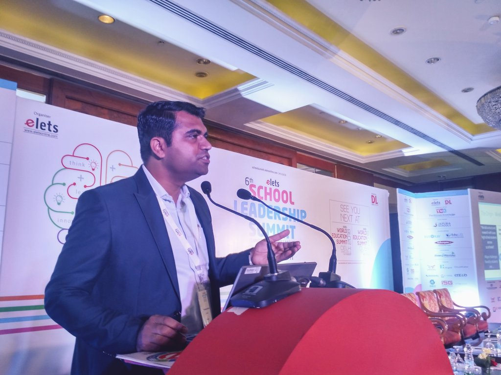 test Twitter Media - Industry Presentation | Sandeep Solanki @iknalos , CEO, Edulift Solution Pvt Ltd @mt_education addressing 6th School Leadership Summit -- New Delhi #SLS2018 #EletsEducation https://t.co/VBp05ivFKe