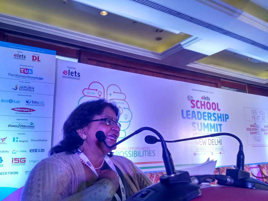 "test Twitter Media - Shuchita Gupta, Principal, Jammu Sanskriti School, Jammu addressing a session "" How technology is transforming teaching-learning process in the schools of Tier 2 cities?"" at #SLS2018 #eletsEducation https://t.co/4UnqImf1yR"