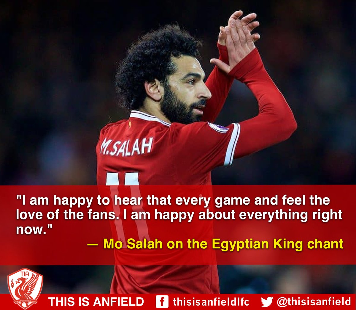 Mo Salah has a lot to be happy about right now... �� https://t.co/yzktvuNOmX