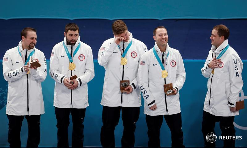 test Twitter Media - United States delivers a gold-medal knockout punch to crush Sweden and claim their first ever Olympic men's curling title https://t.co/NfwmtRmJ5y by @SNkeats #PyeongChang2018. More from the Winter Olympics: https://t.co/uDiJsuJUgY https://t.co/aoT46b607p