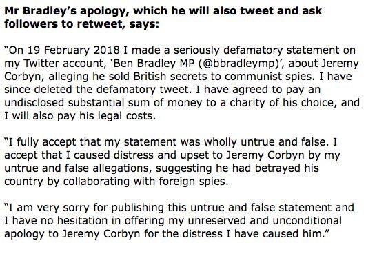test Twitter Media - RT @OwenJones84: Here's Ben Bradley's grovelling apology. Please RT for everyone to read. https://t.co/5GjHRWsljs