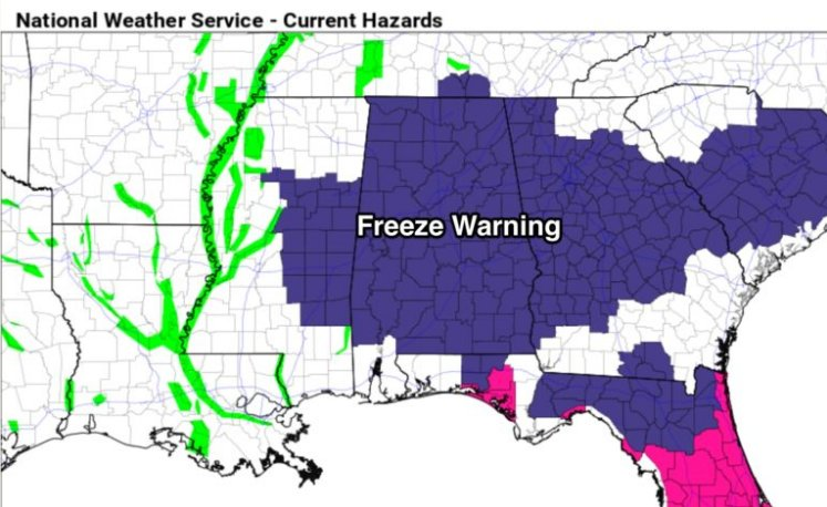 The Weather Authority | Freeze Warning Tonight; Rain Returns This Weekend