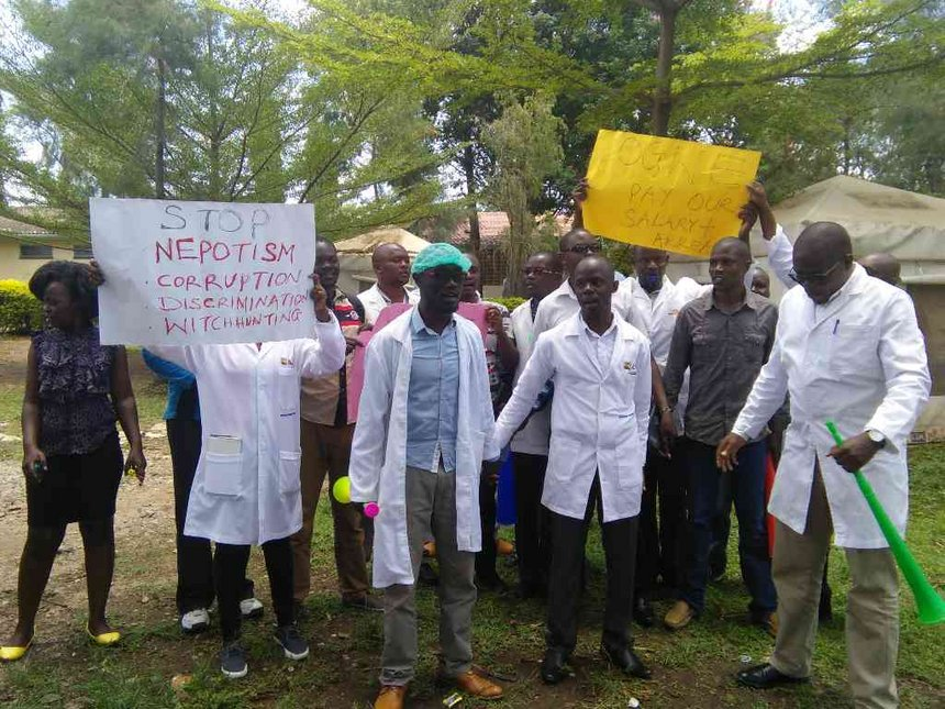 300 Homa Bay clinicians strike to support 'fired' colleagues