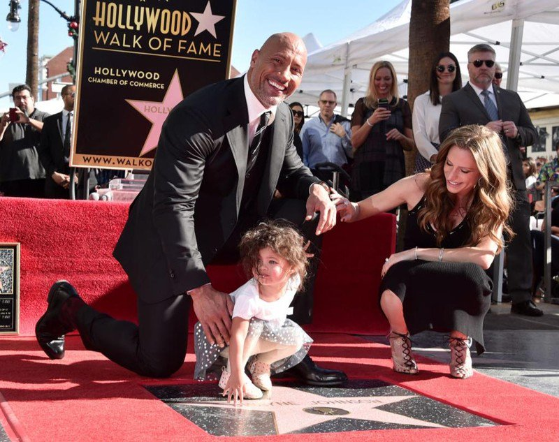 The Rock is upstaged by daughter on International Women's Day