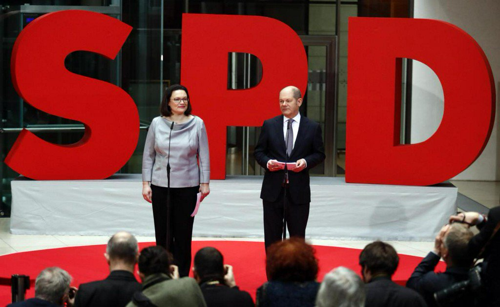 New German government takes shape as SPD names ministers
