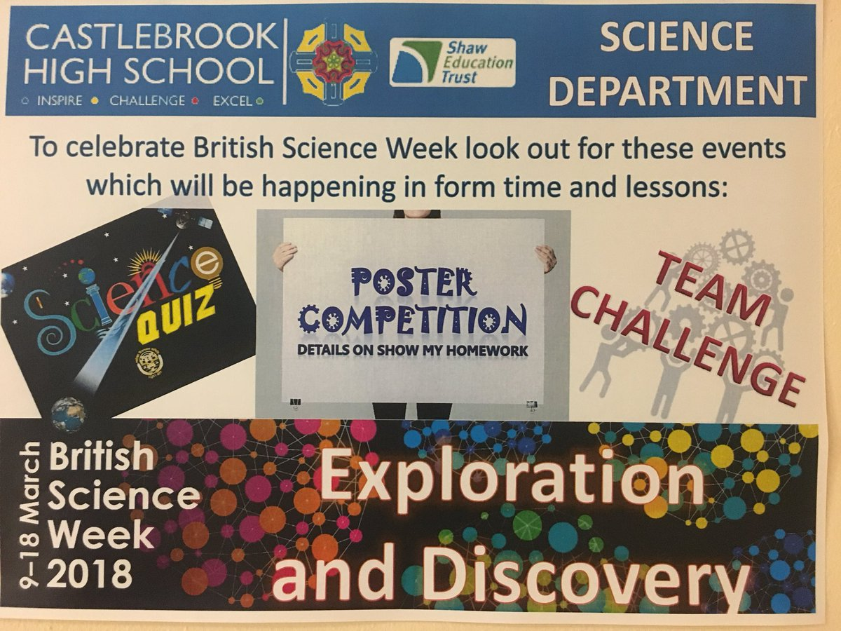 test Twitter Media - Exciting week ahead for British Science Week. Year 7, 8 and 9 can find more info on SMHW about our poster competition. Prizes to be won... #BSW18 https://t.co/l9bP3g3bgQ