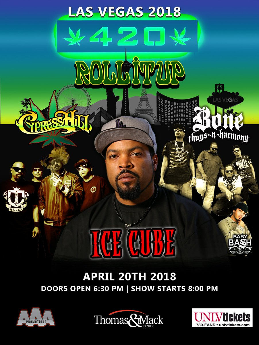 Spending 4/20 in Vegas with Cypress Hill and Bone Thugz. Get tickets here: https://t.co/L7Fttj8z7i https://t.co/WE7PhZ9Rfl