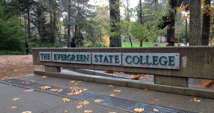 Graffiti at Evergreen State College equates science with white supremacy