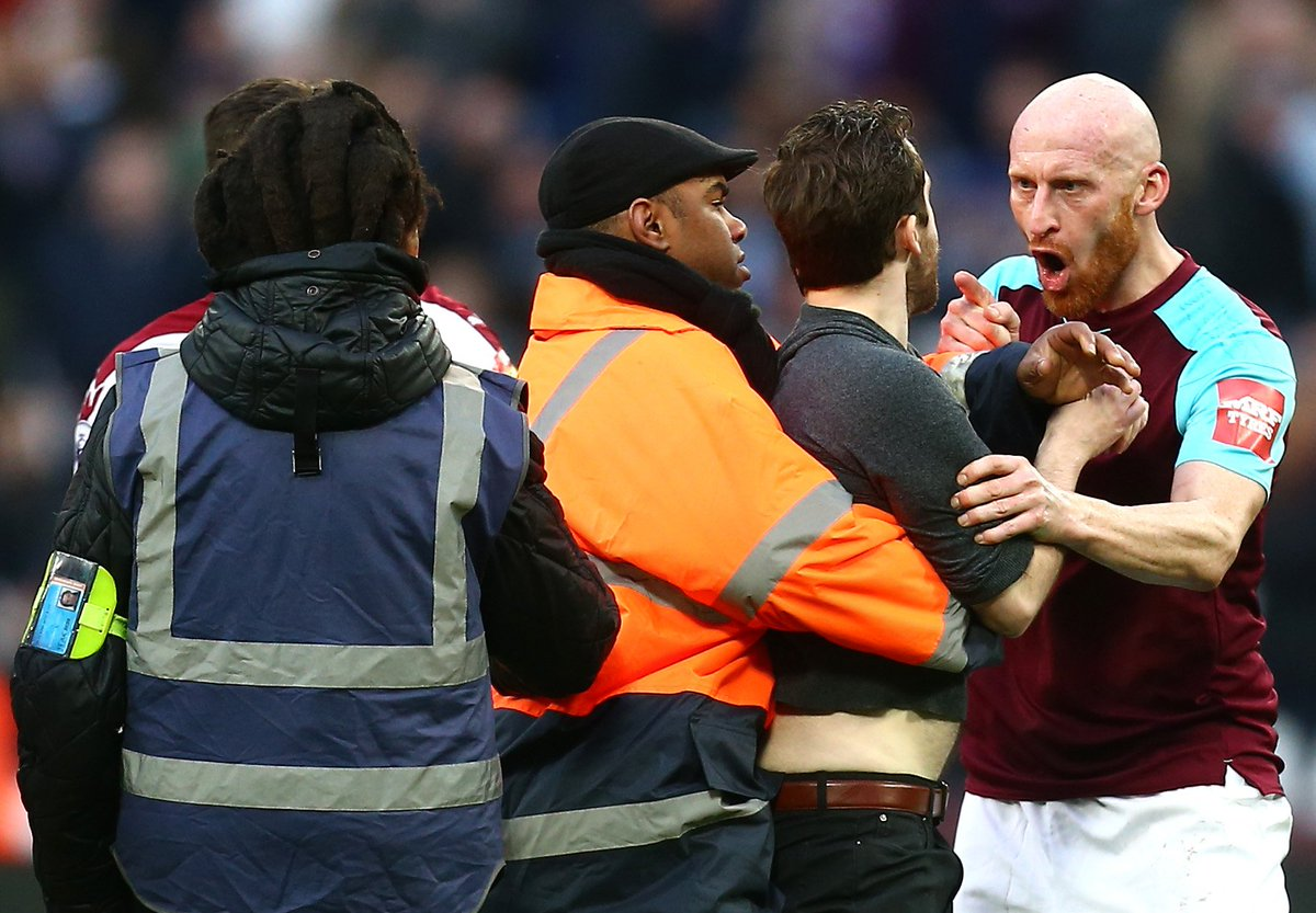 West Ham Fans Invade Pitch, Confront Players During Loss vs. Burnley