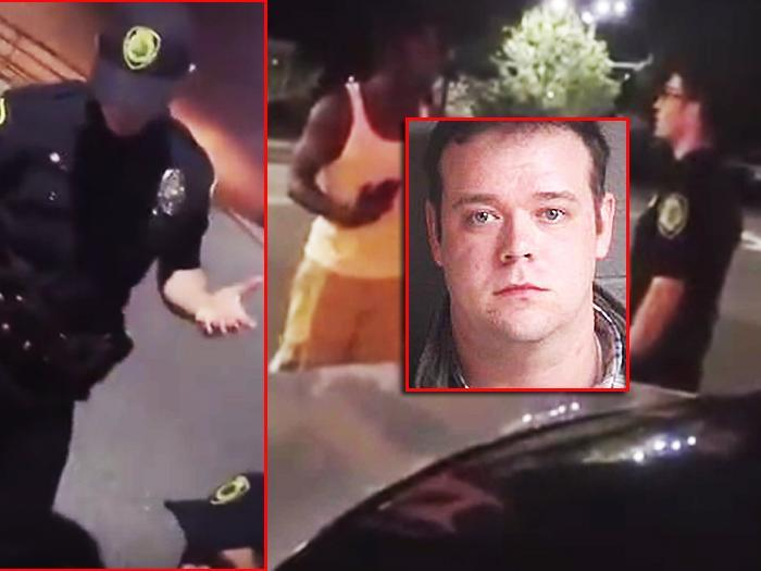 'YOU'RE GOING TO GET F---ED UP HARDCORE!': Officer charged with assaulting black jaywalker