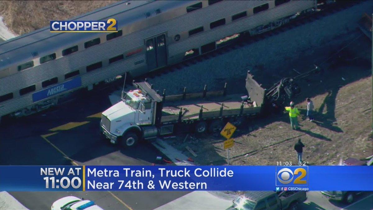 Metra Train Hits Truck In Wrightwood