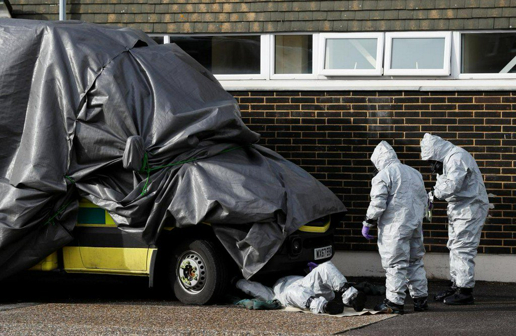 UK police looking at 240 pieces of evidence in nerve agent attack - minister