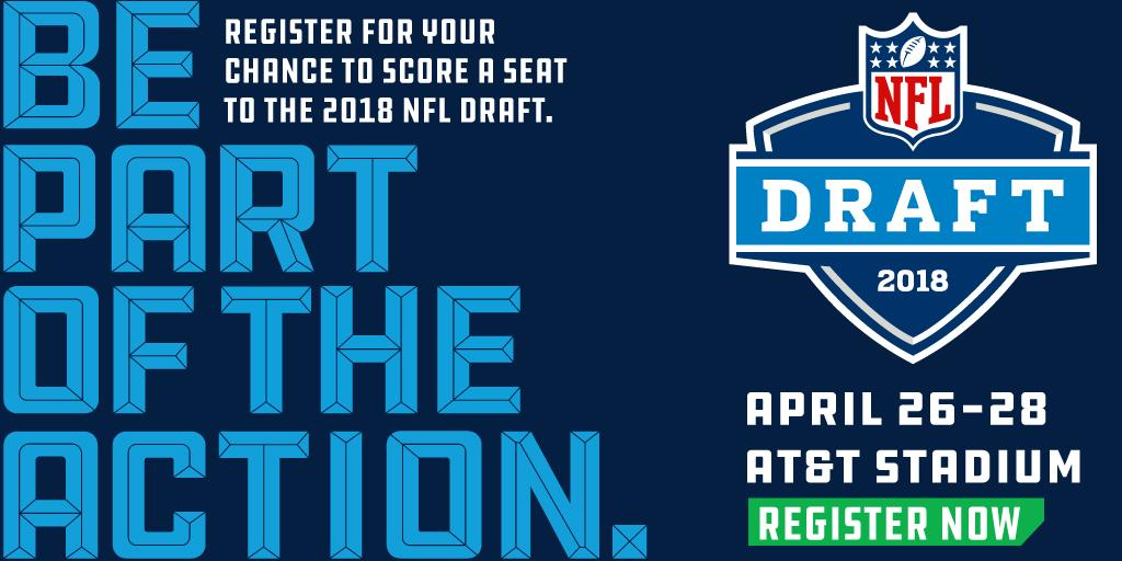 Want to be inside @ATTStadium for the 2018 #NFLDraft?  Don't miss your chance: https://t.co/QLunAzNg9H https://t.co/VmcB6cj7NE